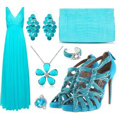 Turquoise Baby, created by leiastyle on Polyvore #turquoise #summer #fashion