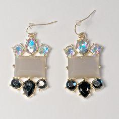 Jewelled Earrings on Etsy, £7.00