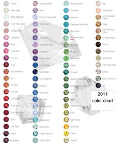 color chart for #gemstones - love it!