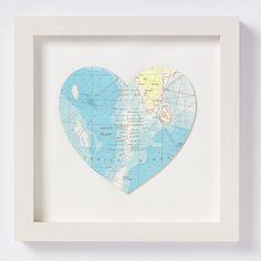 Maldives Heart Map Artwork