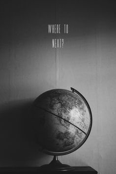 #globe #world #travel #photography #b&w
