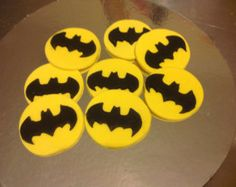 Super héroe Fondant Cupcake Toppers Batman por TheCakeTopCompany