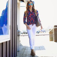 Red, white and blue on the blog today. #fashion #style #ootd
