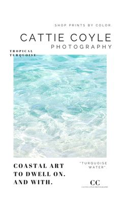 Coastal Wall Decor, Coastal Art, Coastal Cottage, Beach House Decor, Coastal Style, Home Decor, Ocean Photography, Surf Art, Turquoise Water