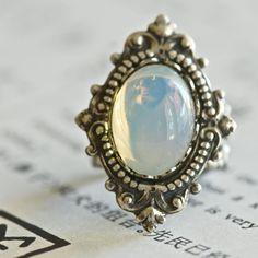 Vampiress ring  VIctorian Goth Vintage by blackpersimmons on Etsy, $26.00