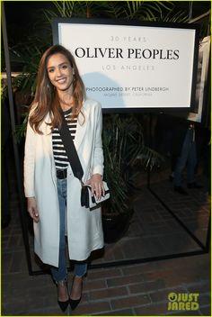 Jessica Alba Helps Celebrate Oliver Peoples' 30th Anniversary!