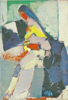 Nicolas de Stael-Portrait d'Anne 1963-Musée d'Unterlinden-Colmar Love this one!