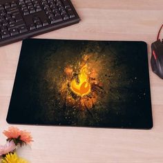 Fnatic Logo Dark Mousepad Mouse Pad pc mac laptop notebook usb hwd Gamer anti slip