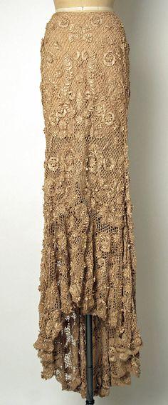 Evening skirt - part of ensemble, House of Balmain, Designer Oscar de la Renta, fall/winter 2001-02, French, silk