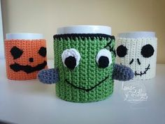 Tutorial Cubretazas (Cup Cozy) Halloween Crochet Paso a Paso en Español