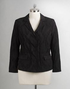 d3b7a31cf5a Tahari Women s Plus-sized Blair Jacket size 14W New Black Blazer Style