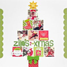 #papercrafting #scrapbook #layouts: Bella Blvd Christmas Cheer Holiday Tree & Elf on The Shelf Layout Stephanie Buice