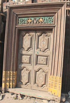 Teak Wood Main Door Design Entrance Indian Ideas For 2019 - wooden door design Sliding Glass Door Replacement, Diy Sliding Barn Door, Diy Barn Door, Glass Panel Door, Glass Front Door, Panel Doors, Front Doors, Bedroom Door Decorations, Wooden Main Door Design