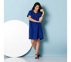 Krátké šaty se šněrováním ve výstřihu | blancheporte.cz #blancheporte #blancheporteCZ #blancheporte_cz #dress #saty