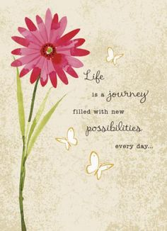 Flower Life is Journey - Good Luck Card