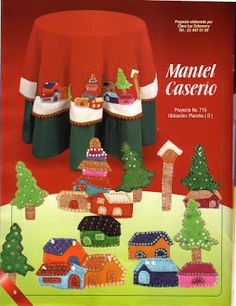 Foto: Christmas Holidays, Christmas Tree, Christmas Ideas, Holiday Crafts, Holiday Decor, Table Covers, Embroidery Stitches, Gingerbread, Album