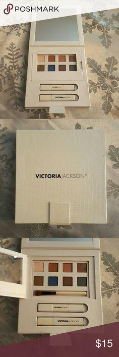 Victoria Jackson eye makeup set . Eye makeup set includes various colorful eye shadows  with brush . eyeliner with brush , mascara , and frosty shimmer lip gloss . NWOT. ,???????????????? Victoria Jackson Makeup