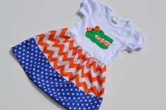 Could not be more in love with this dress... Florida Gator Skirted Onesie. $25.00, via Etsy.