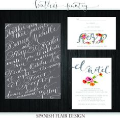 Watercolor/Calligraphy Wedding Invitation Design
