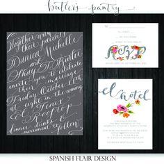 Watercolor/Calligraphy Wedding Invitation Design