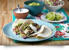 Baja Chilli Fish Tacos, Coriander and Basil | What2Cook