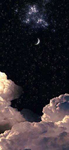 Cute Black Wallpaper, Cute Galaxy Wallpaper, Black Phone Wallpaper, Phone Wallpaper Images, Aesthetic Desktop Wallpaper, Anime Scenery Wallpaper, Cute Wallpaper Backgrounds, Clouds Wallpaper Iphone, Night Sky Wallpaper