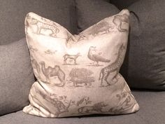 Jungle Grey Throw Pillows, Grey, Gray, Toss Pillows, Cushions, Decorative Pillows, Decor Pillows, Scatter Cushions