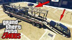 Novo Caminhão Cegonha no GTA 5! Levando os Carros para o Encontro de Reb...