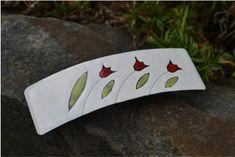 smaltovaná spona...tulipány