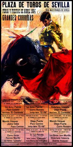 Bullfighting  Plaza De Toros De Sevilla 1 Canvas Art by VinylzArt