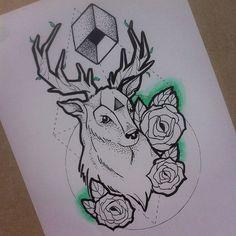 Broken Ink Tattoo - deer tattoo https://instagram.com/broken_tattoo