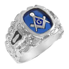 Sterling Silver Blue Lodge Ring