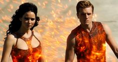 Katniss and Peeta in The Hunger Games Catching Fire The Hunger Games: Catching Fire Trailer #3: Return to the Arena