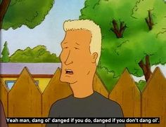 """NAME: Jeffrey Boomhauer  SHOW: """"King of the Hill"""" FYI: Texas Ranger and full-time womanizer. He loves flashy cars, NASCAR, and Dido. He (and most of his family) speak in a nearly incoherent Southern gibberish. His father is a doctor."""