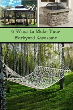 6 Ways to Make Your Backyard Awesome! With fall approaching it's the perfect time to spice up your backyard--for entertaining or just relaxing.