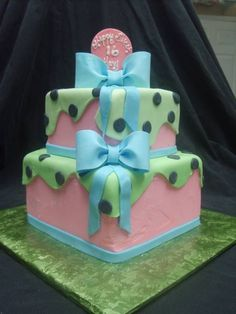 This cake was done for a 16 year old girl. mother came to pick it up. lets just say there were tears of joy involved!! : )