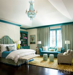 Turquoise Accent Color   Mallory Mathison Inc. Atlanta Homes & Lifestyles.