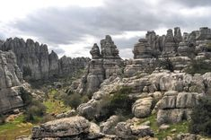 El paisaje kárstico de El Torcal de Antequera.