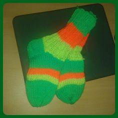 #Stickat #sockor åt min dotter