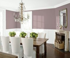 Look at the paint color combination I created with Benjamin Moore. Via Wall: Swiss Coffee Trim & Wainscot: Distant Gray Ceiling: Distant Gray Share your saved colors, start a new search or go to your local Benjamin Moore retailer for samples. Home Interior, Interior Design, Scandinavian Interior, Trending Paint Colors, Benjamin Moore Colors, Wickham Gray Benjamin Moore, Benjamin Moore Abalone, Benjamin Moore Cashmere Gray, Benjamin Moore Healing Aloe