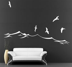 Vinyl Wall Decals Beach Scene Decal By Studiodecals On Etsy 76 00