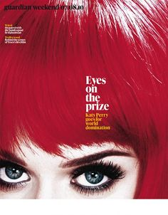 Great cover #typography   Katy Perry, The Guardian Weekend