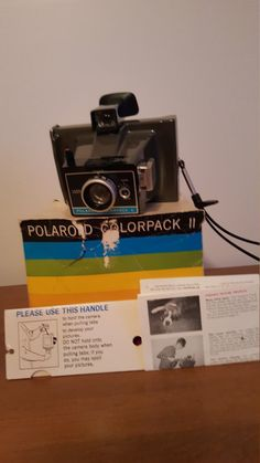 Check out this item in my Etsy shop https://www.etsy.com/listing/288179107/vintage-polaroid-colorpack-ii