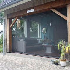 windscherm terras veranda overkapping www.wegwind.nl (17) House, Swimming Pool House, Patio Design, Exterior Design, Outdoor Deco, Garden Styles, Patio Blinds, Exterior, Remodeling Mobile Homes