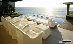 Lounge area with ocean view by Saota Architects