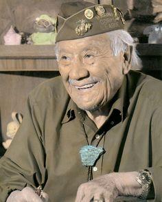 Allen Dale June (1921 – 2010), Navajo code talker I've had the privilege of meeting two Navajo Code Talkers:)