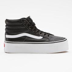 dca0a1fd6cdea2 Leather Vans Platform (€60) found on Polyvore Vans Sneakers