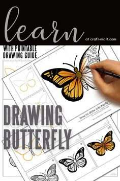 Check out our easy-to-follow drawing tutorials with a FREE PRINTABLE guide so you can practice and perfect your drawing skills. From roses, butterflies, and cute animals, you'll find your next drawing project at craft-mart.com. Learn to draw with ease so you can create the best bullet journal pages and doodles. #drawingtutorials #learntodraw
