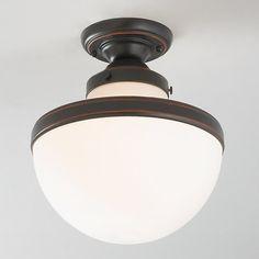 Retro Globe Shade Ceiling Light