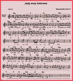 Jadą wozy kolorowe. Ukulele, Violin, Tab, Lead Sheet, Piano, Sheet Music, Books, Music Instruments, Songs
